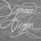 Grace Vegan. Garaffiti seen on the side of an art gallery in Adelaide, South Australia by Harvey Schiller