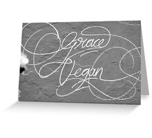Grace Vegan. Garaffiti seen on the side of an art gallery in Adelaide, South Australia Greeting Card