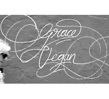 Grace Vegan. Garaffiti seen on the side of an art gallery in Adelaide, South Australia Photographic Print