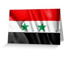 Syria Flag Greeting Card