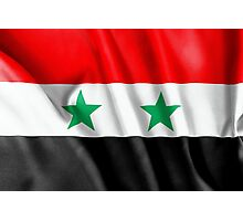 Syria Flag Photographic Print