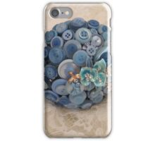 Something Blue: ButtonBelleBridal Bouquet iPhone Case/Skin