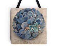 Something Blue: ButtonBelleBridal Bouquet Tote Bag