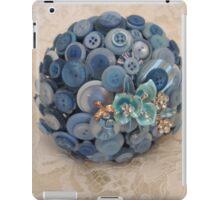 Something Blue: ButtonBelleBridal Bouquet iPad Case/Skin