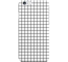 Emmy -- Black and White Grid, black and white, grid, monochrome, minimal grid design cell phone case iPhone Case/Skin