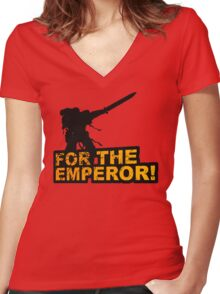 FOR THE EMPEROR! Women's Fitted V-Neck T-Shirt