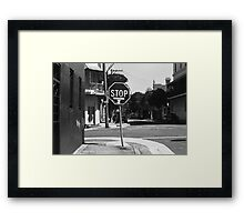 thought for the day.... stop driving Framed Print
