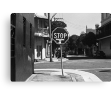 thought for the day.... stop driving Canvas Print