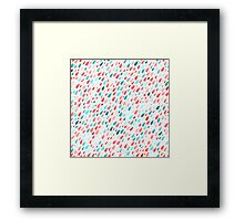 Rainy Day Pattern Framed Print