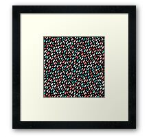 Rainy Day Pattern. Pink and blue Framed Print
