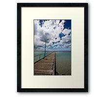 Rye Pier Framed Print