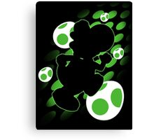 Super Smash Bros. Yoshi Silhouette Canvas Print