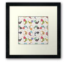 Chubby Owls Framed Print
