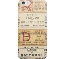 Belfast & County Down Railway Tickets iPhone Case/Skin