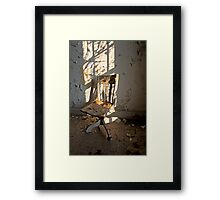 One Chair, One Window Framed Print