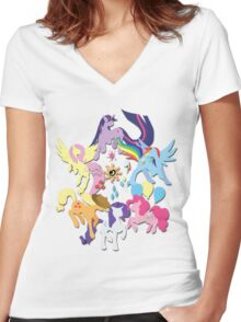 Circle of Friendship Women's Fitted V-Neck T-Shirt