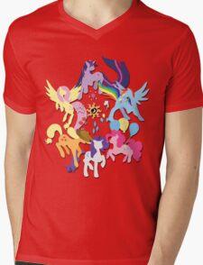 Circle of Friendship Mens V-Neck T-Shirt