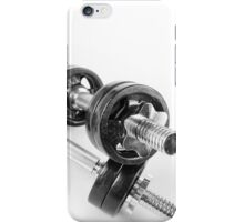 Chrome bolt on hand barbells weights iPhone Case/Skin