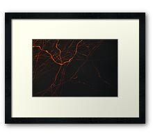 spark traces Framed Print