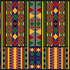 Ethnic Arabic African Baduy Pattern by Vidka Art