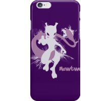 Mewtwo Silhouette Shirt iPhone Case/Skin