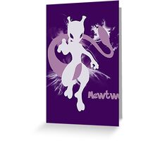 Mewtwo Silhouette Shirt Greeting Card