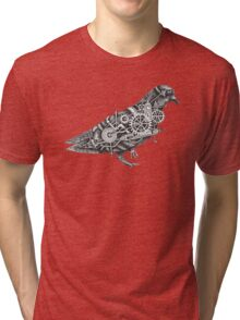 Roly The Steampunk Pigeon Tri-blend T-Shirt