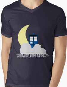 Tardis In The Sky Mens V-Neck T-Shirt