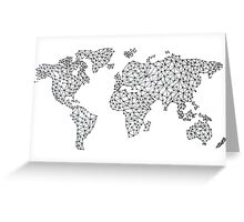 Word Map in a parallel universe II Greeting Card