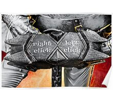 Medieval knight - Right click - Left click Poster