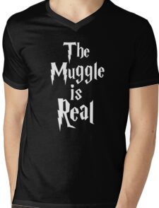 The muggle is real Mens V-Neck T-Shirt