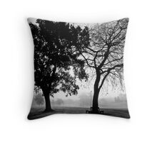 foggy duo Throw Pillow