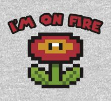 I am on fire - fire flower by masonsummer