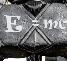 Medieval knight - E=mc2 Sticker