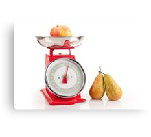 Kitchen red weight scale utensil Canvas Print