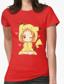 Pikachu Girl! ♥ Womens Fitted T-Shirt