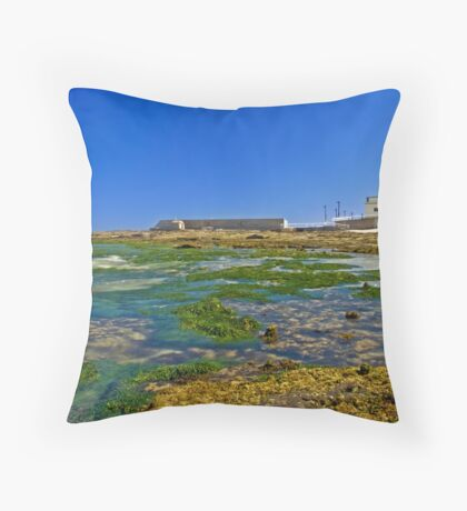 Cowrie Hole to the baths Throw Pillow