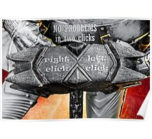 Medieval knight - No Problems In Two Clicks Poster