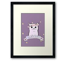 Sarcasm Cat Framed Print