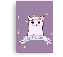Sarcasm Cat Canvas Print