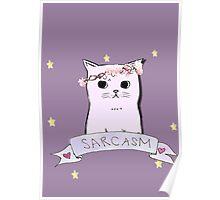Sarcasm Cat Poster