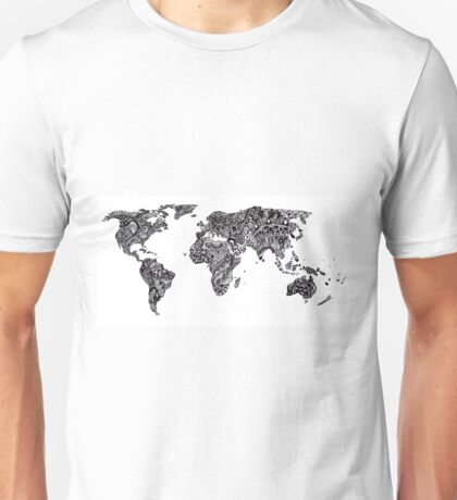 World Map in a parallel universe Unisex T-Shirt