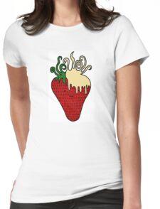 Strawberries 'n' Cream  Womens Fitted T-Shirt