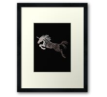 The unicorn dancing in the sky  Framed Print