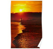 photographer at sunset Poster