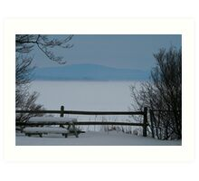 Lake Champlain Winter Scene Art Print