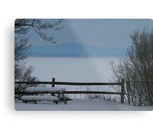 Lake Champlain Winter Scene Metal Print