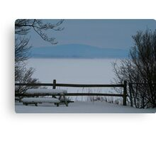 Lake Champlain Winter Scene Canvas Print