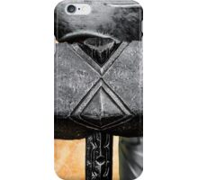 Medieval knight with a warhammer iPhone Case/Skin