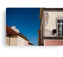 Architecture detail cracked house Canvas Print